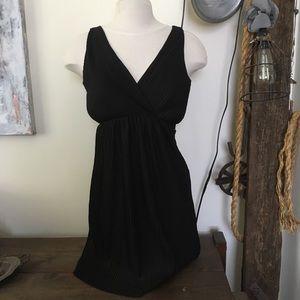 Armani Exchange Black Mini Sleevless Dress